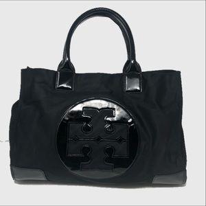 Tory Burch large Ella nylon patent tote bag